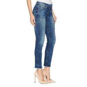 HUDSON Tally Crop Skinny Jeans In Parkway Raw Hem